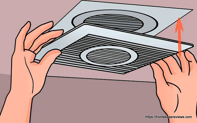 How to clean a bathroom exhaust fan with light