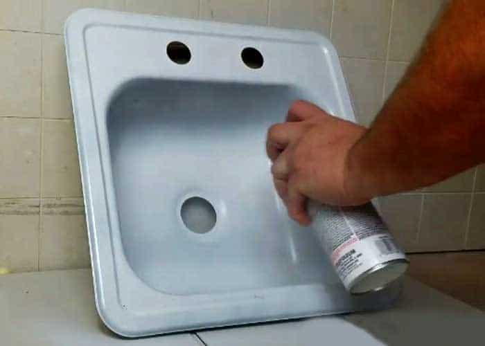 Stainless Steel Sink Painting